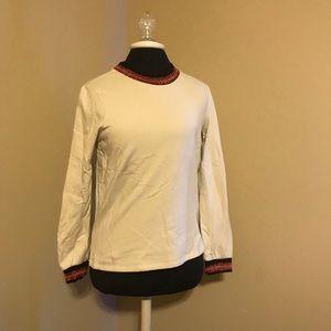 Sparkle trim sweatshirt
